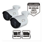 NGTCAM2PKHDA10W - Add-On HD Wired Security Bullet Cameras,1080p Resolution, 2/PK