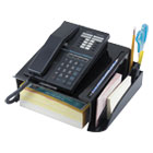 UNV08116 - Telephone Stand and Message Center, 12 1/4 x 10 1/2 x 5 1/4, Black