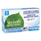 SEV22787 - Natural Fabric Softener Sheets, Free & Clear, 80/Box, 12 Box/Carton