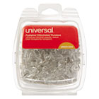 "UNV31304 - Clear Push Pins, Plastic, 3/8"", 100/Pack"