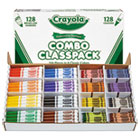 CYO523349 - Crayons and Markers Combo Classpack, Eight Colors, 256/Set