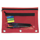 AVT94037 - Binder Pouch with PVC Pocket, 9 1/2 x 7, Red, 6/Pack