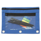 AVT94038 - Binder Pouch with PVC Pocket, 9 1/2 x 7, Blue, 6/Pack