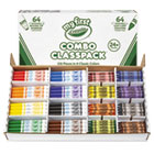 CYO818128 - My First Crayons and Markers Combo Classpack, Eight Colors, 128/Set