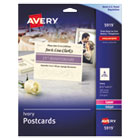 AVE5919 - Postcards for Inkjet/Laser Printers, 4 1/4 x 5 1/2, Ivory, 4/Sheet, 100/Box