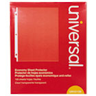 UNV21130 - Top-Load Poly Sheet Protectors, Economy, Letter, 100/Box