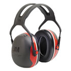 MMMX3A - PELTOR X3A Over-the-Head Earmuffs, 28 dB NRR, Black/Red, 10/Ctn