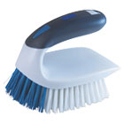"QCK59202 - 2-in-1 Iron Handle Brush, 2"" Bristles, 3"" Handle, White"
