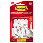 MMM170679ES - General Purpose Hooks, Small, Holds 1lb, White, 9 Hooks & 12 Strips/Pack