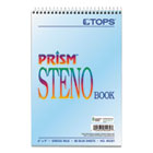 TOP80284 - Prism Steno Books, Gregg, 6 x 9, Blue, 80 Sheets, 4 Pads/Pack