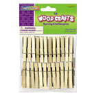 CKC365801 - Wood Spring Clothespins, 3 3/8 Length, 50 Clothespins/Pack
