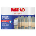 "JOJ4634 - Sheer Adhesive Bandages, 3/4"" x 3"", 100/Box"