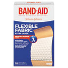 "JOJ5685 - Flexible Fabric Extra Large Adhesive Bandages, 1 1/4"" x 4"", 10/Box"