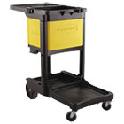 RCP6181YEL - Locking Cabinet, For Rubbermaid Commercial Cleaning Carts, Yellow
