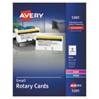 AVE5385 - Small Rotary Cards, Laser/Inkjet, 2 1/6 x 4, 8 Cards/Sheet, 400 Cards/Box