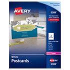 AVE5389 - Postcards for Laser Printers, 4 x 6, Uncoated White, 2/Sheet, 100/Box