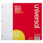 UNV20911 - Filler Paper, 8 1/2 x 11, College Rule, White, 100 Sheets/Pack