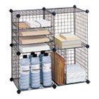 SAF5279BL - Wire Cube Shelving System, 15w x 15d x 15h, Black
