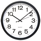 UNV11641 - Round Wall Clock, Black, 12""