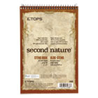 TOP74688 - Second Nature Spiral Reporter/Steno Book, Gregg, 6 x 9, White, 80 Sheets