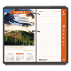 HOD417 - Earthscapes Desk Calendar Refill, 31/2 x 6, 2018