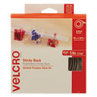 VEK90082 - Sticky-Back Hook and Loop Fastener Tape with Dispenser, 3/4 x 15 ft. Roll, White