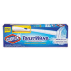 CLO03191 - Toilet Wand Disposable Toilet Cleaning Kit: Handle, Caddy & Refills, White