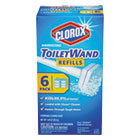 CLO14882 - Disinfecting ToiletWand Refill Heads, 6/Pack