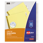 AVE11112 - Insertable Big Tab Dividers, 8-Tab, Letter
