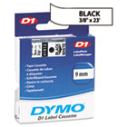 DYM41913 - D1 Standard Tape Cartridge for Dymo Label Makers, 3/8in x 23ft, Black on White
