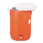 "RCP1840999 - Insulated Water Cooler, 5 Gal, Orange, 10""Dia x 19 1/2""H, Polyethylene"