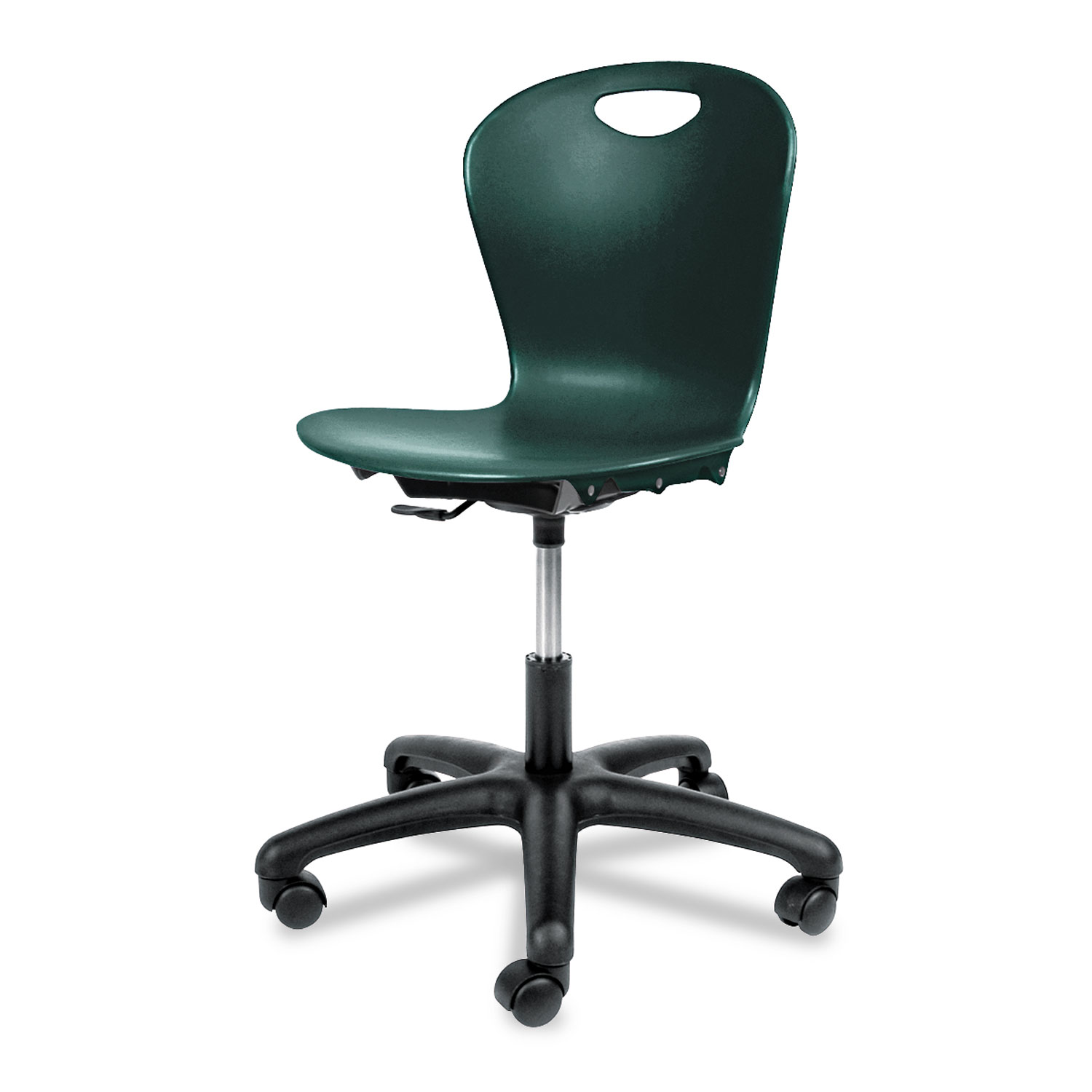 Adjustable Height Task Chair, Forest Green Seat/Forest Green Back, Black Base