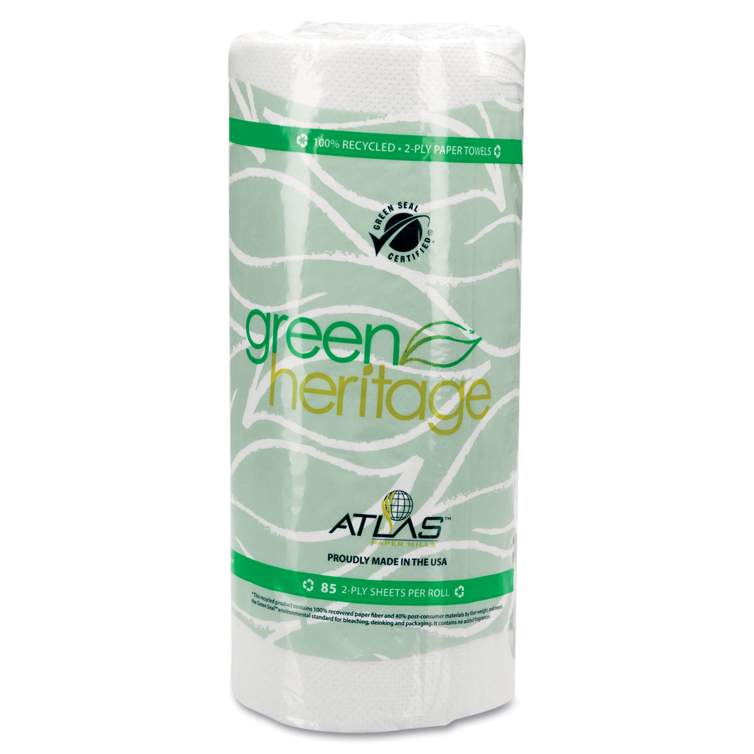 Green Heritage Kitchen Roll Towels by Atlas Paper Mills APM585GREEN ...