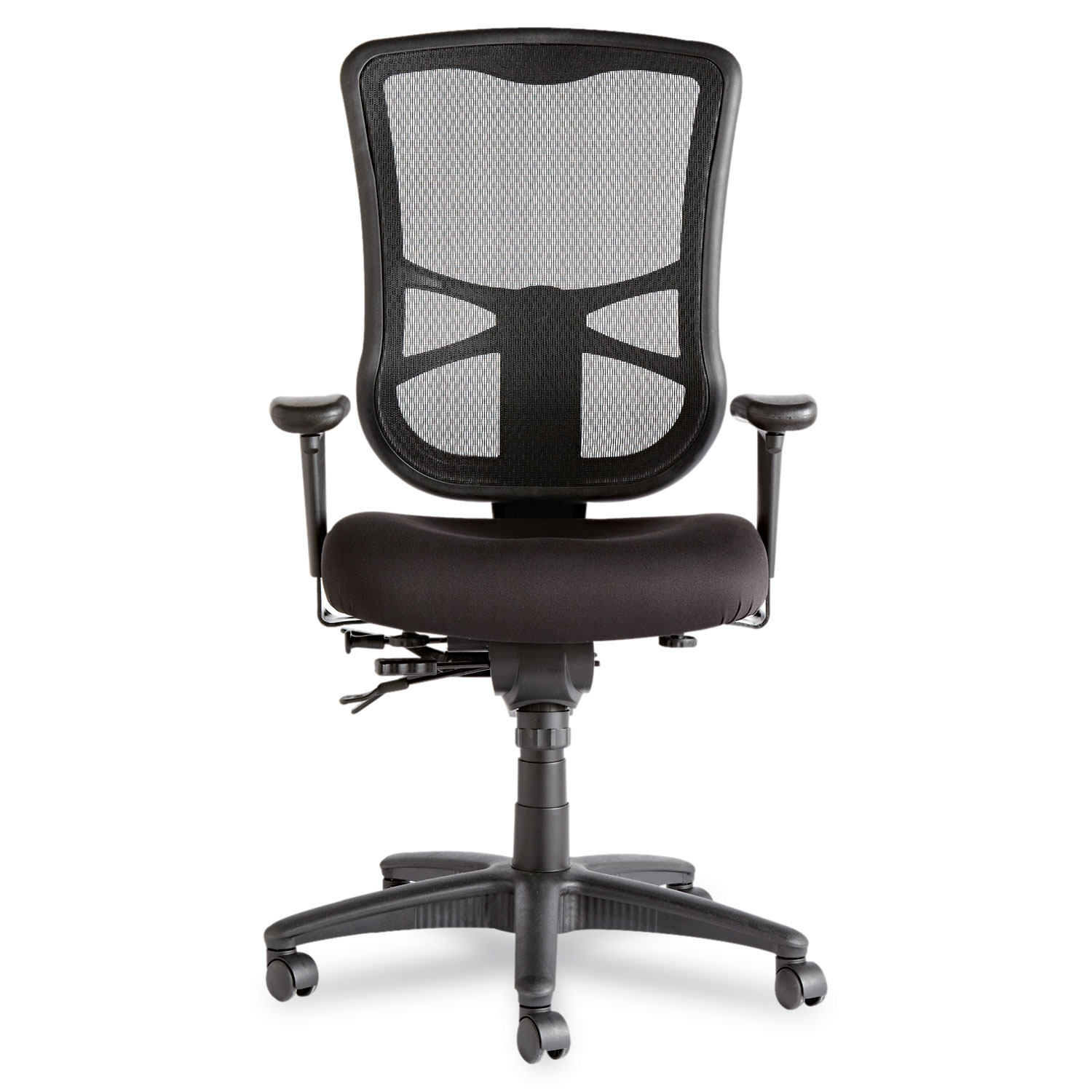 Alera Elusion Series Mesh High Back Multifunction Chair, Black