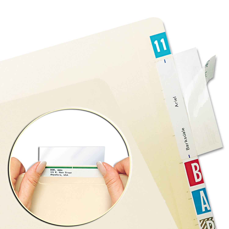 Self-Adhesive Label/File Folder Protector, Top Tab, 3 1/2 x 2, Clear, 500/Box