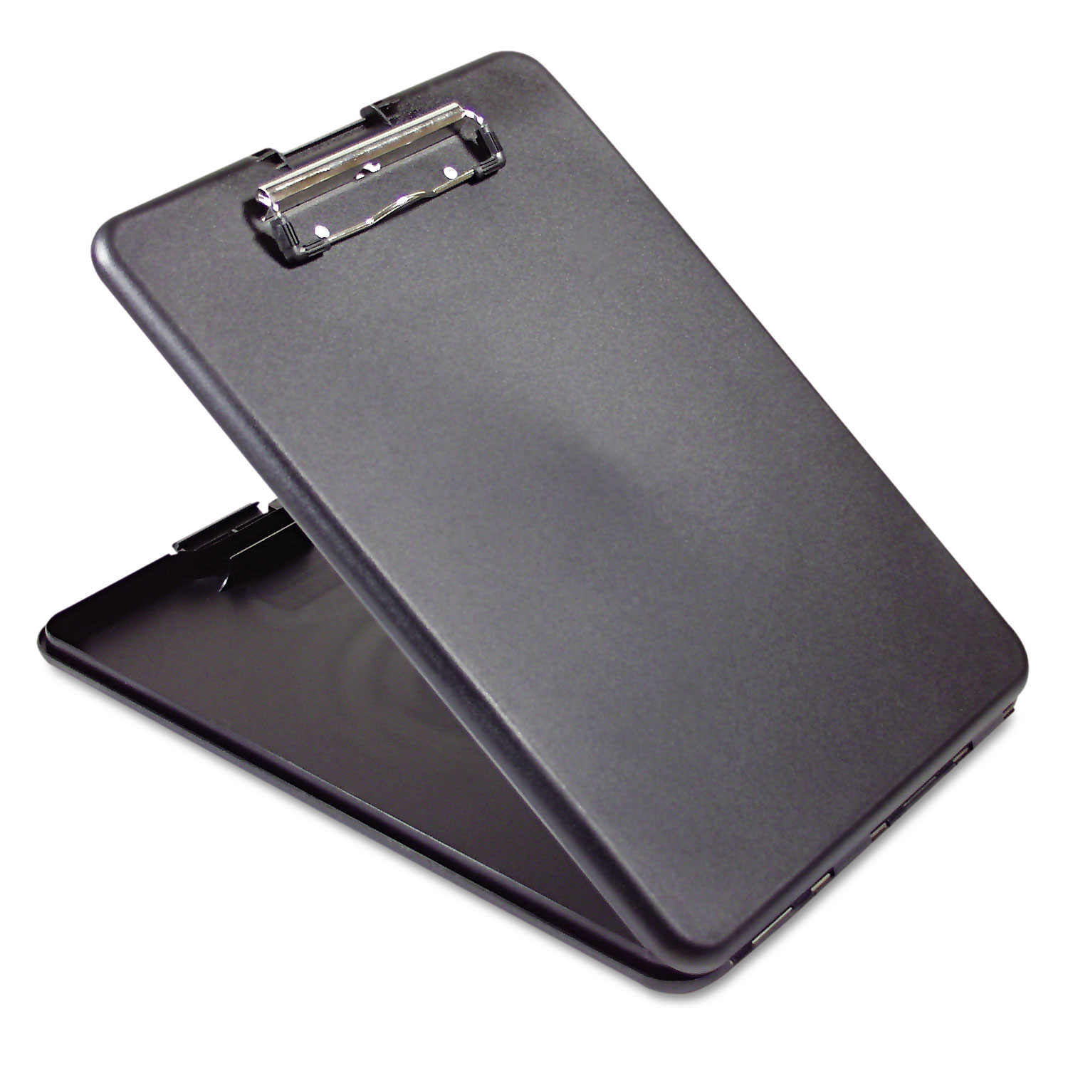 """SlimMate Storage Clipboard, 1/2"""" Clip Capacity, Holds 8 1/2 x 11 Sheets, Black"""