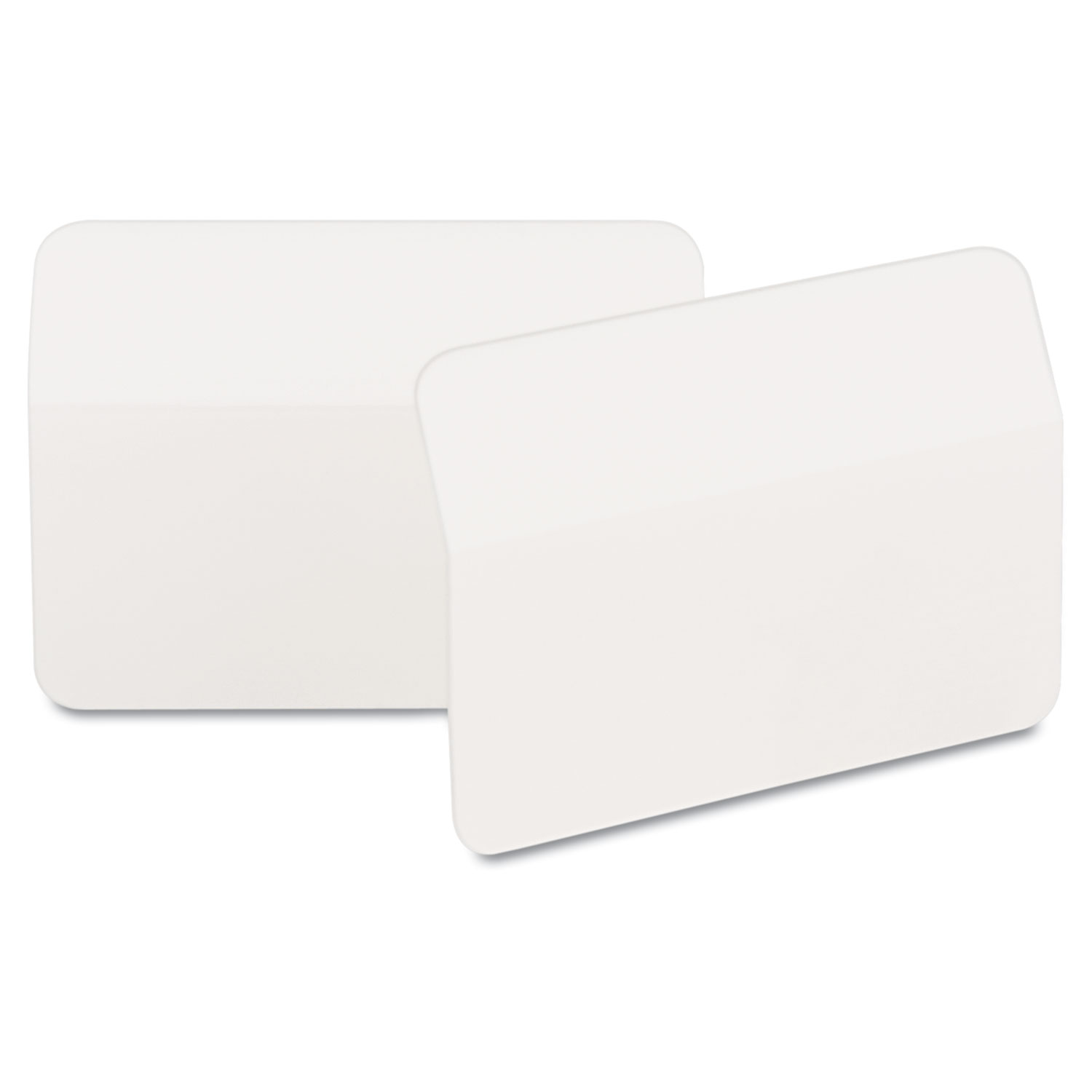 """2"""" Angled Tabs, Color Bar, 1/5-Cut Tabs, White, 2"""" Wide, 50/Pack"""