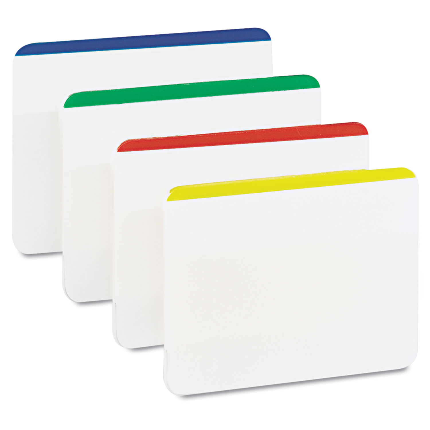 """2"""" and 3"""" Tabs, Lined, 1/5-Cut Tabs, Assorted Primary Colors, 2"""" Wide, 24/Pack"""