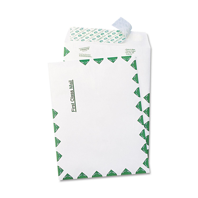 QUA41420 9 x 12 Quality Park Redi Strip Catalog Envelope Kraft 250//Box