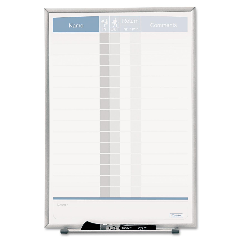 Vertical Matrix Employee Tracking Board by Quartet® QRT33703 ...