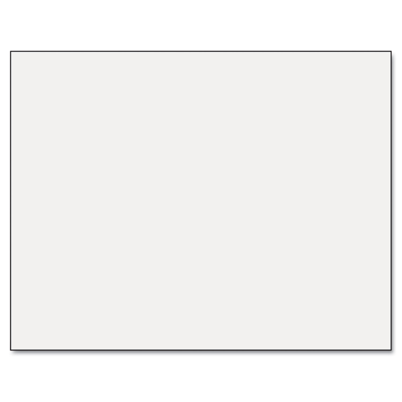 Six-Ply Railroad Board, 22 x 28, White, 25/Carton