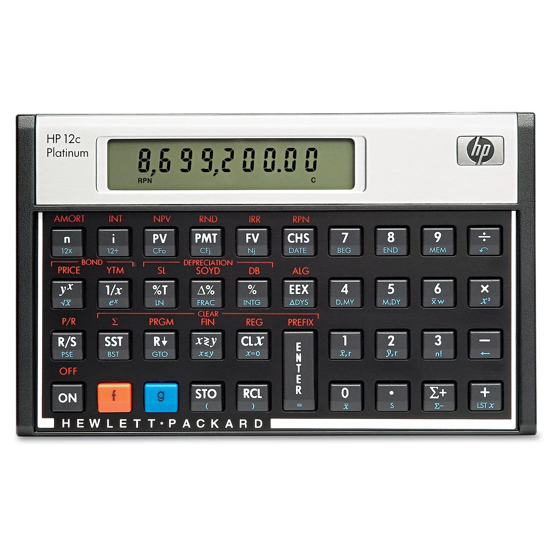 12c Platinum Financial Calculator, 10-Digit LCD