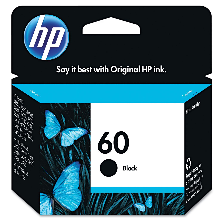HP 60, (CC640WN) Black Original Ink Cartridge