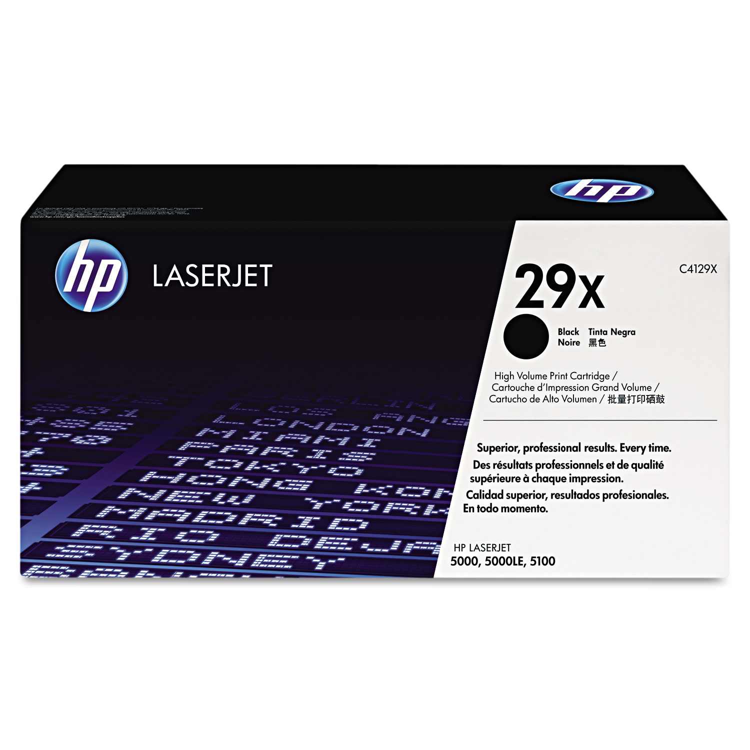 HP 29X, C4129X High Yield Black Original LaserJet Toner Cartridge