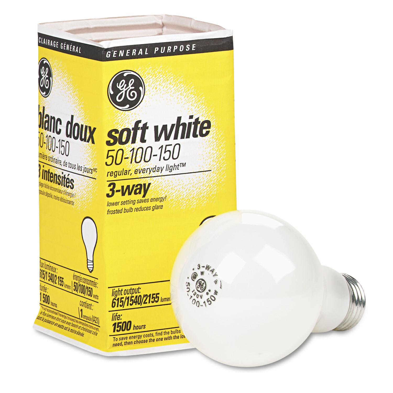 Incandescent Soft White 3-Way A21 Light Bulb, 50/100/150 W