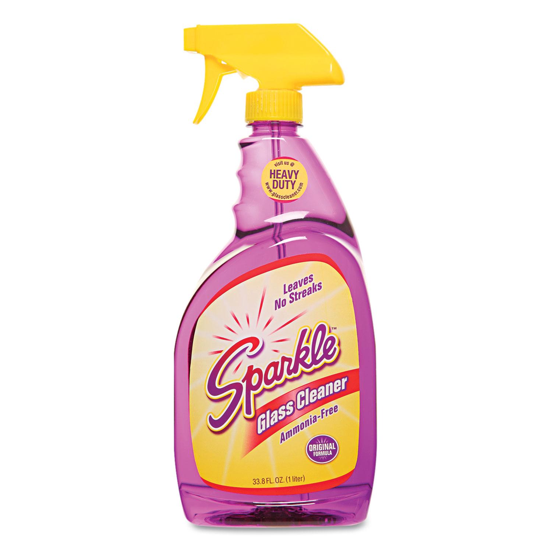 Glass Cleaner, 33.8oz Spray Bottle