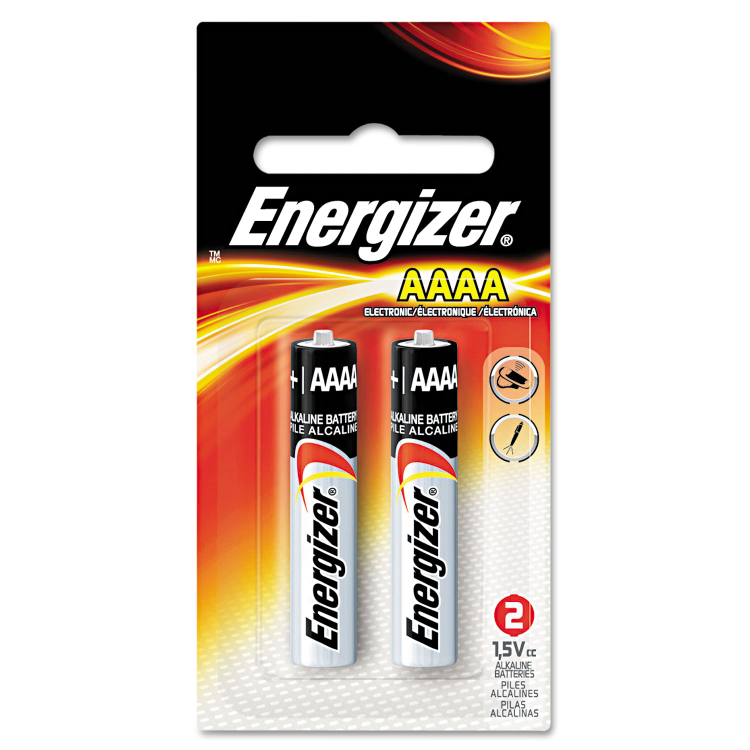 MAX Alkaline AAAA Batteries, 1.5V, 2/Pack
