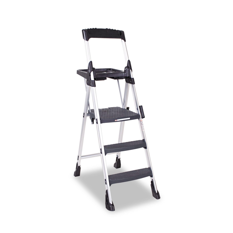 Worlds Greatest Work Platform, 3-Step, 300 lb Capacity, Aluminum/Resin, Black