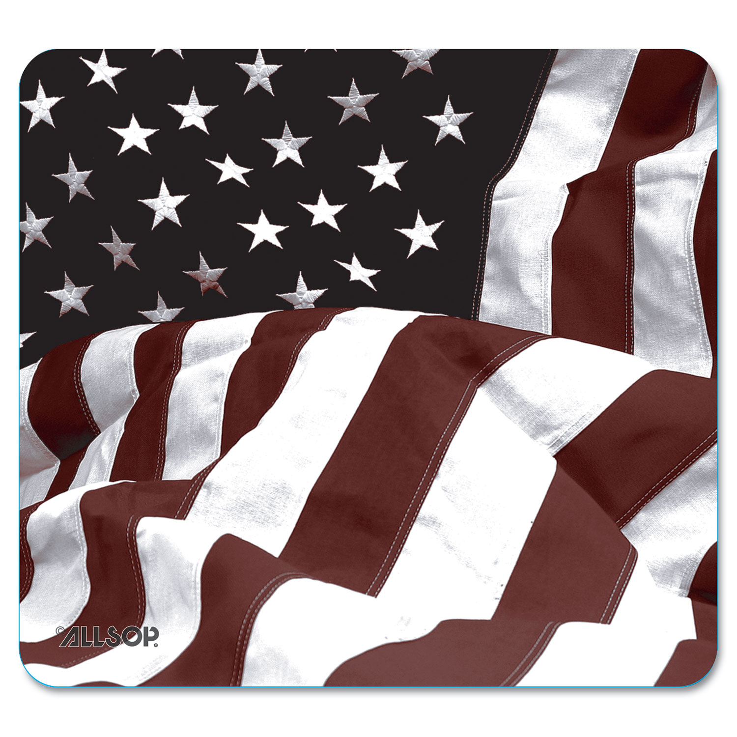 Naturesmart Mouse Pad, American Flag Design, 8 1/2 x 8 x 1/10