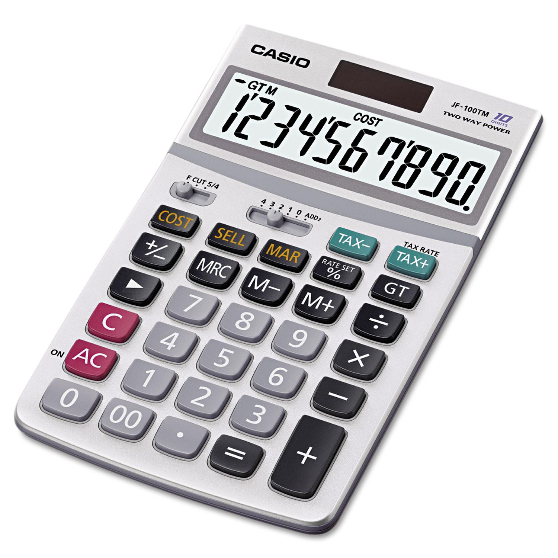 JF100MS Desktop Calculator, 10-Digit LCD